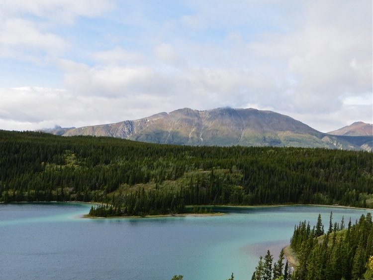 view of Emerald Lake on tour out of Skagway AK