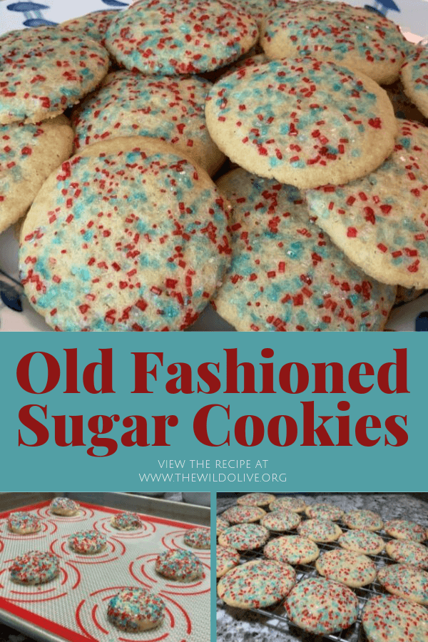 pin image for old fashioned sugar cookies
