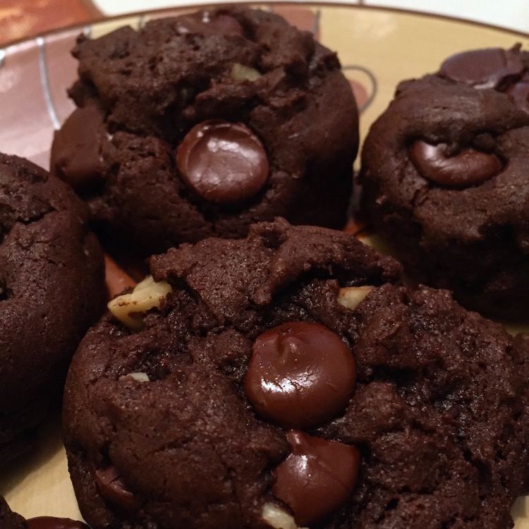 Fudgy Brownie Cookies with Walnuts and Chocolate Chips | Chocolate Chocolate Chip Cookies