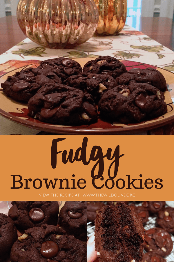 Fudgy Brownie Cookies from thewildolive.org