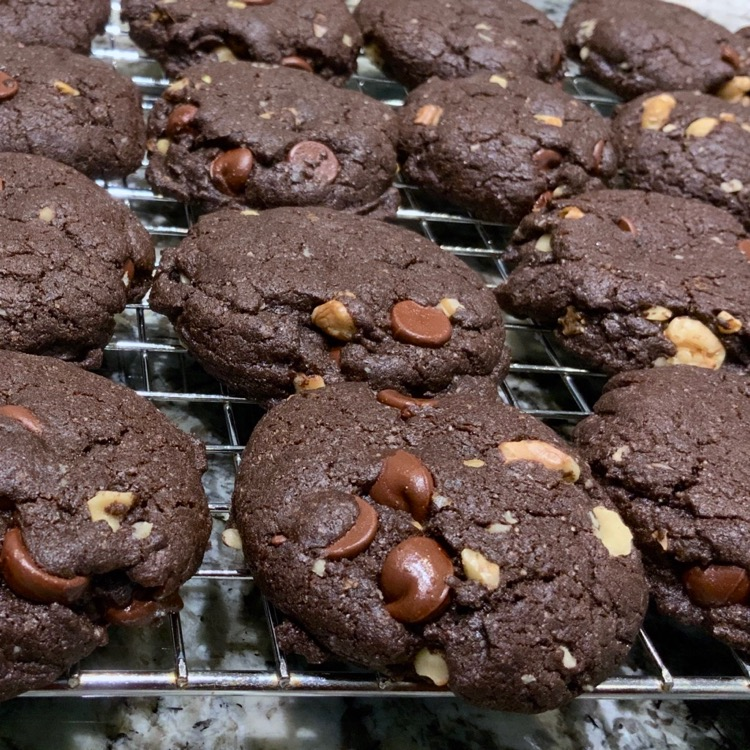 Fudgy Brownie Cookies | Chocolate Chocolate Chip Cookies | Brownie Cookies