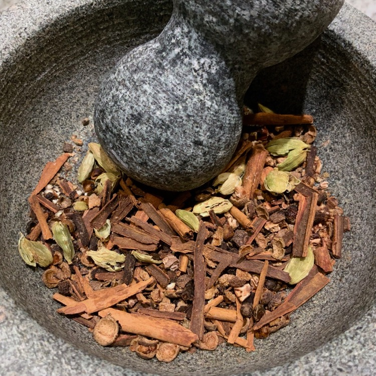 Ground Spices for Homemade Gingerbread Latte Syrup