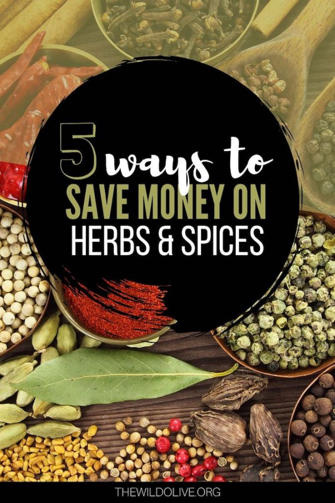 5 Ways to Save Money on Herbs and Spices | Spices | Saving Money