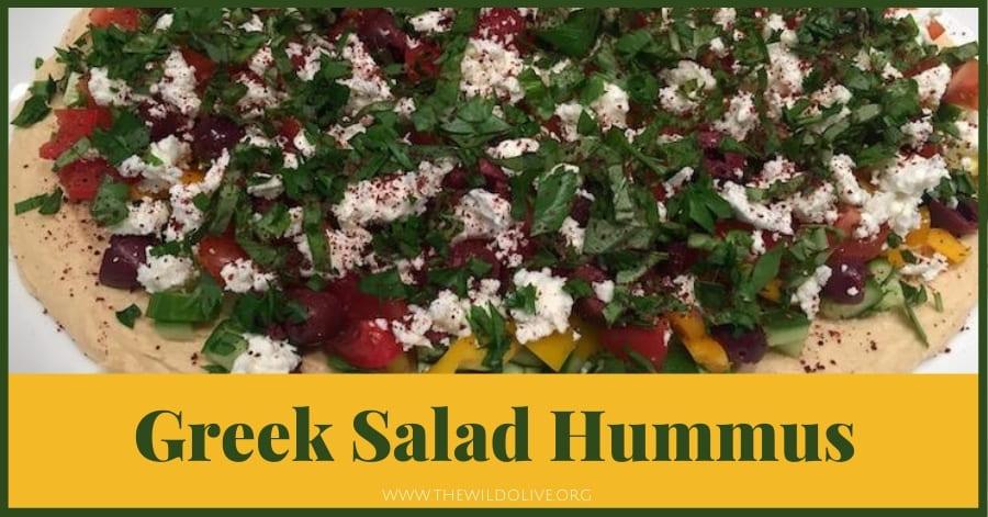 Greek Salad Hummus - - part of a summer recipe roundup