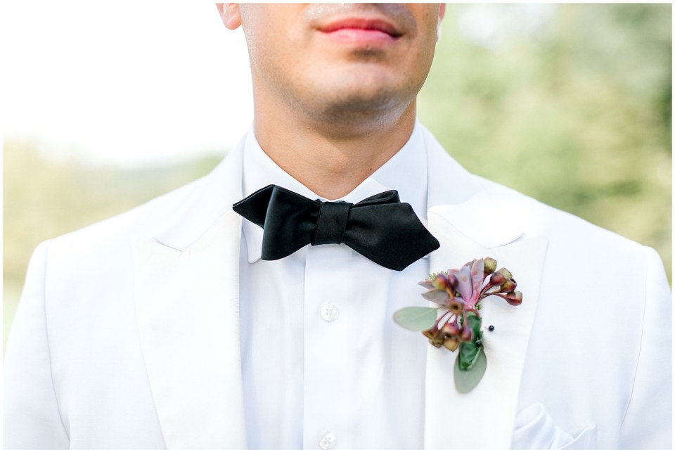 Formal groom styles for a modern farmhouse wedding venue in Bloomington, IN.