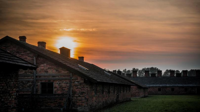 Sunset in auschwitz