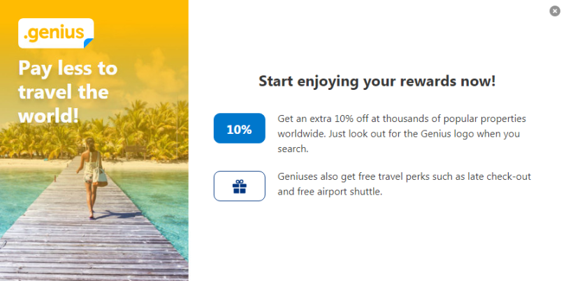 Booking.com rewards