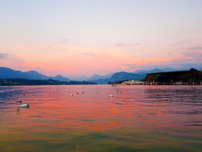 Sunset Lake Lucerne