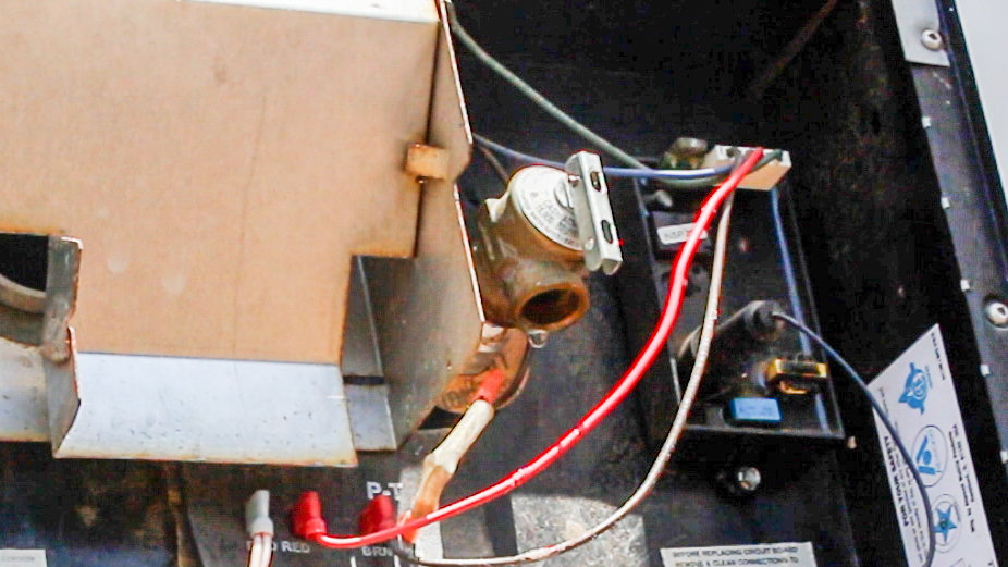 closed relief valve after the rv water heater flush