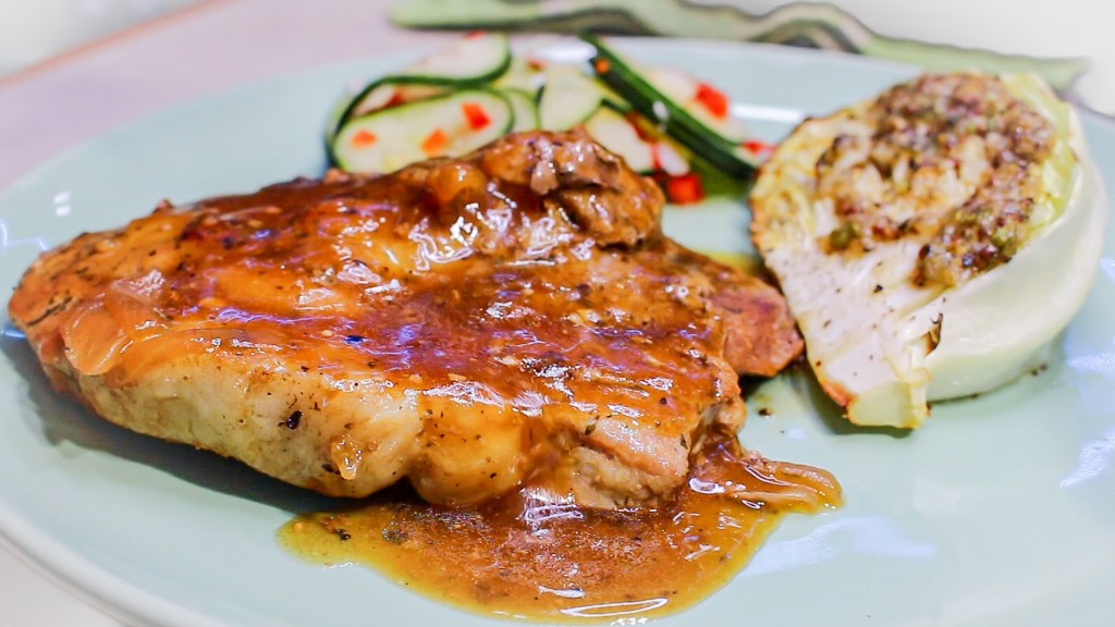 Ranch pork chops smothered in onion garlic gravy