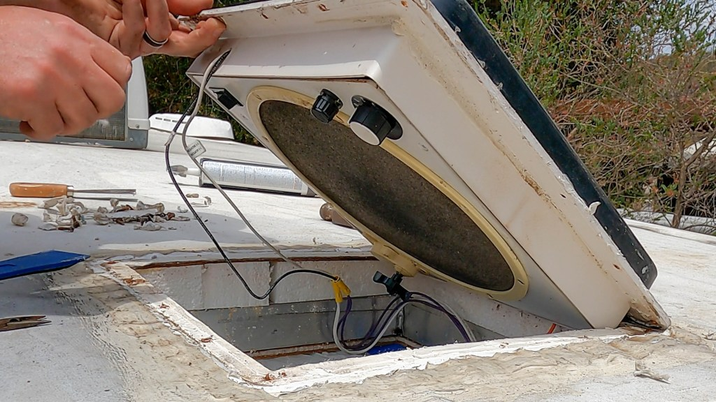 Removing the RV roof vent fan
