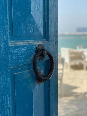 Open the door image