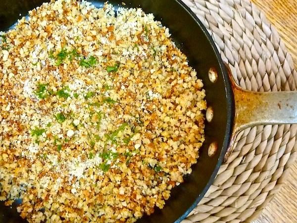 homemade breadcrumbs with gremolata seasoning, recipe