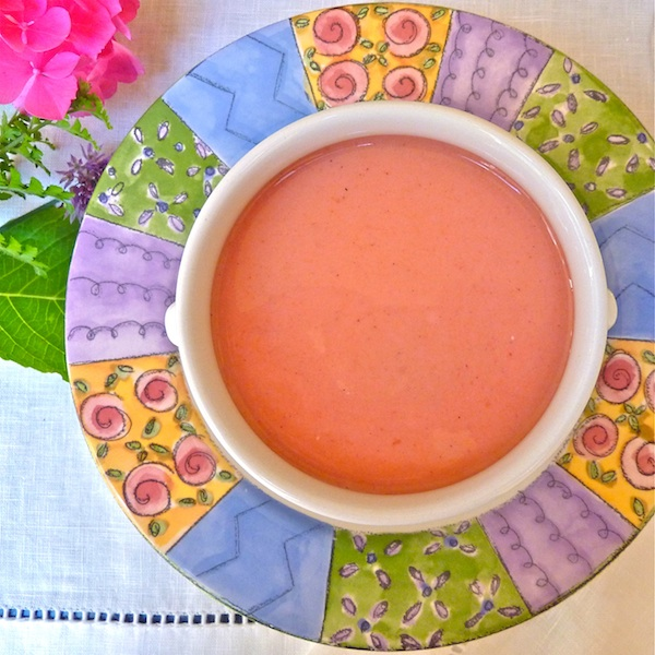 plum soup, summer soup, easy entertaining, recipe