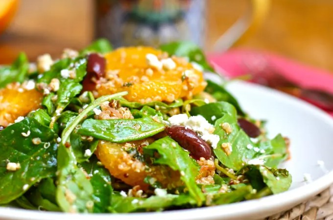 Moroccan Orange Salad with Quinoa