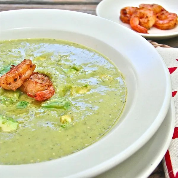 Avocado and Roasted Tomatillo Soup: The Wimpy Vegetarian