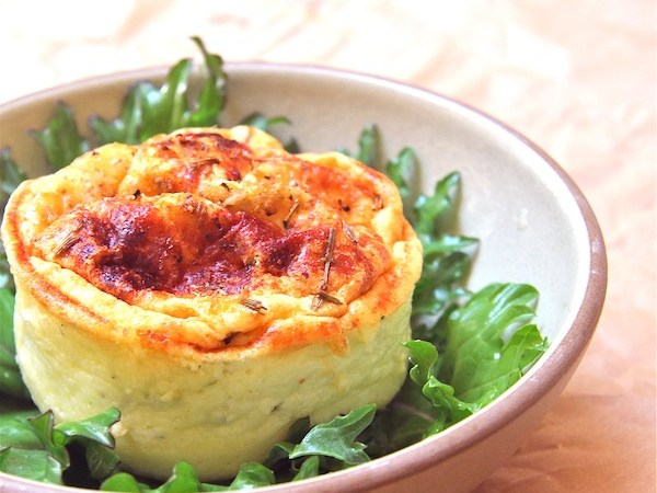 Herbed Goat Cheese Souffles and a Visit to Surfing Goat Dairy on Maui-The Wimpy Vegetarian