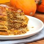 Pumpkin Ricotta Pancakes Cut : The Wimpy Vegetarian