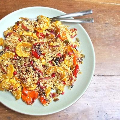 Winter Squash & Pepper Quinoa Pilaf