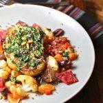 Cauliflower Steaks on Citrus Salad : The Wimpy Vegetarian