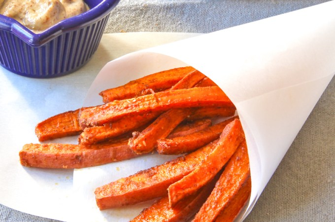 Spicy Sweet Potato Fries (Baked)