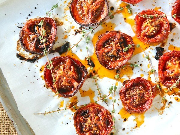Slow Roasted Tomatoes with Balsamic Vinegar
