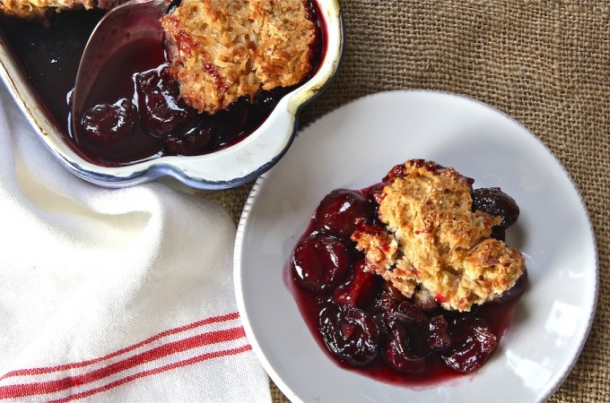 Cherry Cobbler + Coconut Biscuit: #SundaySupper