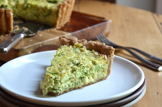Broccoli - Cheddar - Quinoa Casserole Tart The Wimpy Vegetarian