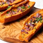 vegetarian appetizer, sweet potato skins, The Wimpy Vegetarian
