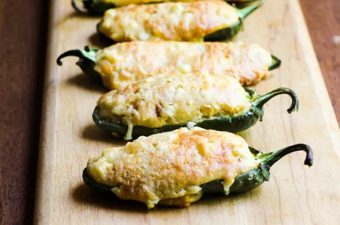 Cornbread stuffed jalapeño peppers for your next party!