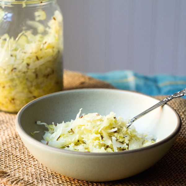 DIY making sauerkraut