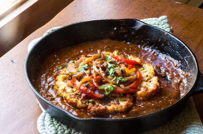 Cauliflower Skillet Steaks – Sicilian Style: #SundaySupper #McSkilletSauce