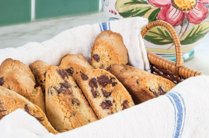 Anise Biscotti with Chocolate Chips