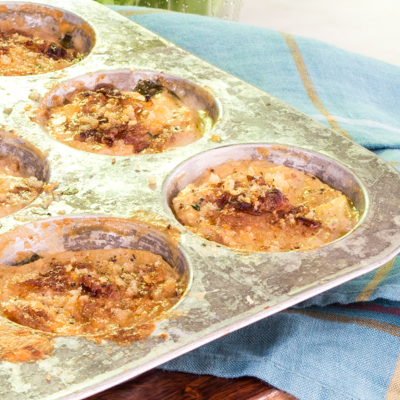 http://www.jade88.com/recipes/mini-potato-gratins-mustard-greens