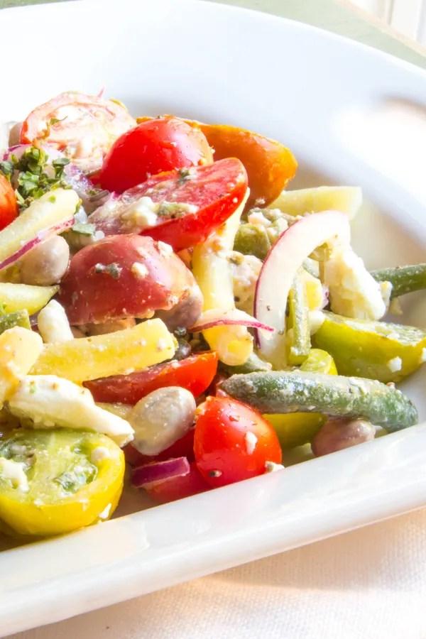 Lemony 3 Bean Salad with Tomatoes