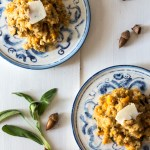 Butternut Squash Risotto with Pears and Fried Sage