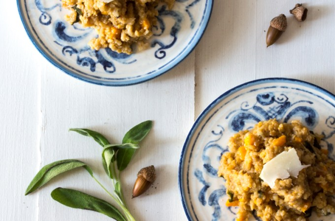 Butternut Squash Risotto with Pears and Sage
