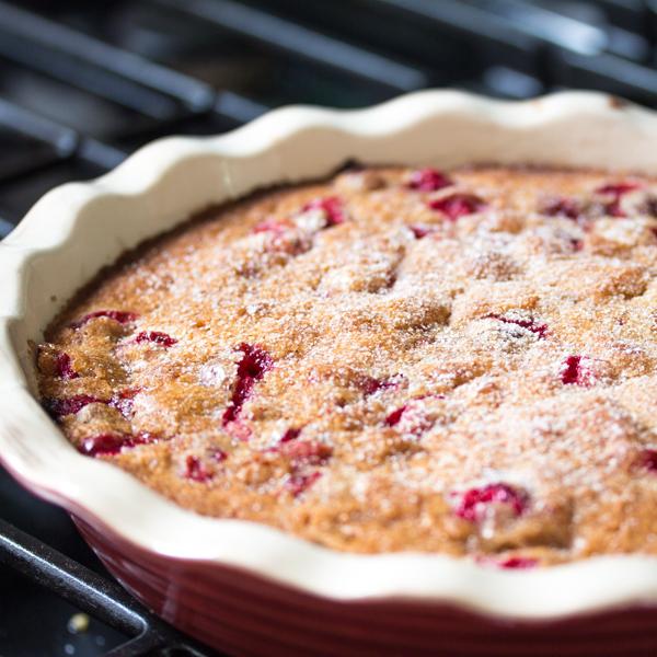 Cranberry Cake powder sugar