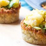 Hash Browns Cups filled with Egg Scramble