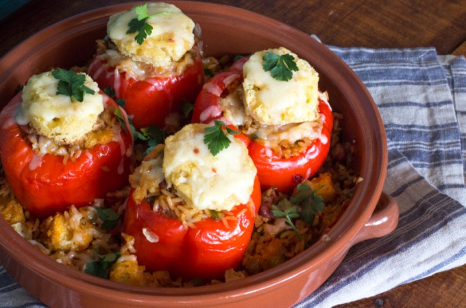 Jambalaya Stuffed Peppers