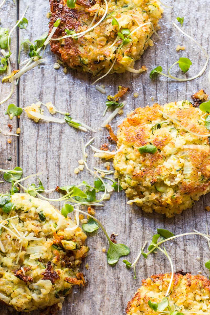 Zucchini Quinoa Fritters with Feta