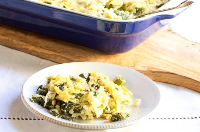 Creamy Feta and Asparagus Casserole with Orzo