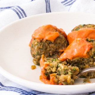 Baked Falafel with a Spicy Moroccan Sauce