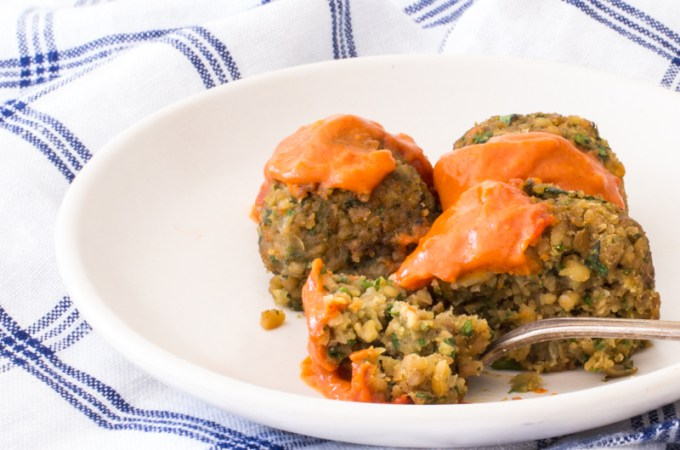 Baked Falafel with a Spicy Moroccan Sauce (in a muffin pan!!)