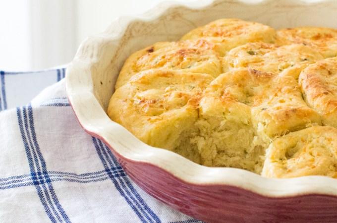 Einkorn Parmesan and Garlic Rolls | #BreadBakers