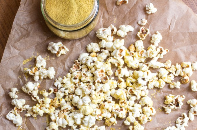 Nutritional Yeast Popcorn (Best Popcorn Ever!!) | #SundaySupper