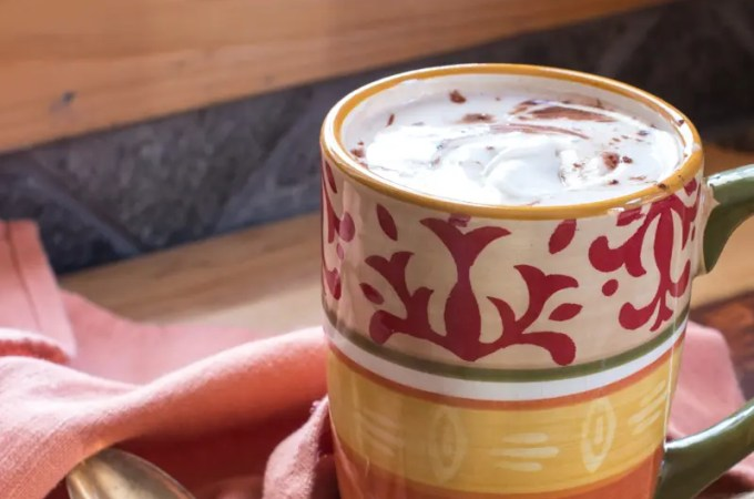 Hot Cocoa with Baileys & Coconut (Dairy-Free) Whipped Cream | #ProgressiveEats