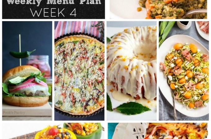 Weekly Menu Plan: Week 4