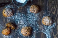 Spiced cookies made with persimmon and dotted with dried figs for the holidays. High altitude instructions included.