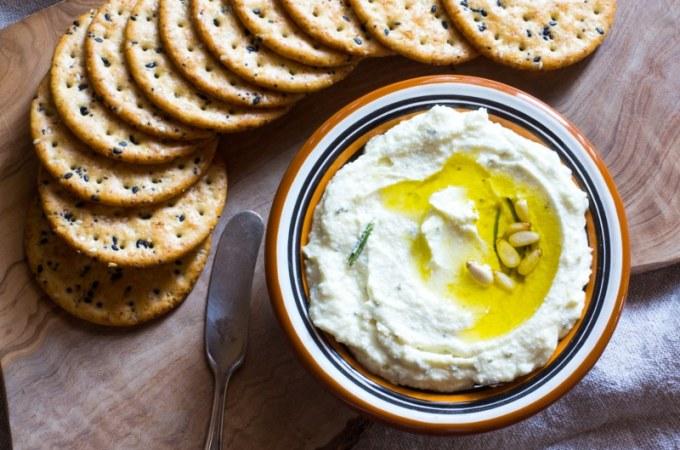 Creamy Feta Dip with Lemon, Rosemary, and Honey